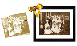 Photograph restoration - framing