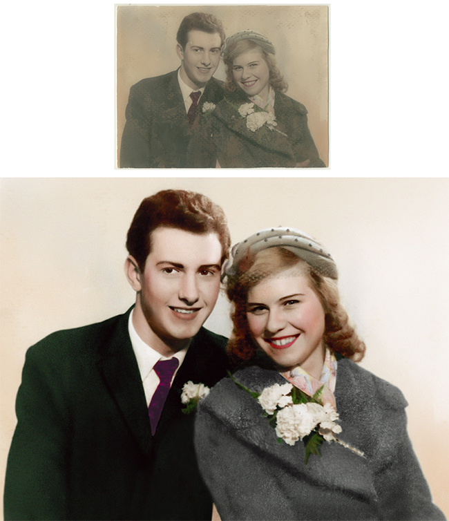 Restored Wedding Photograph - Photographs Forever