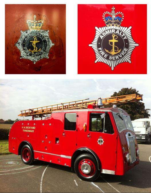 Dennis Vintage Fire Engine Restored Logo
