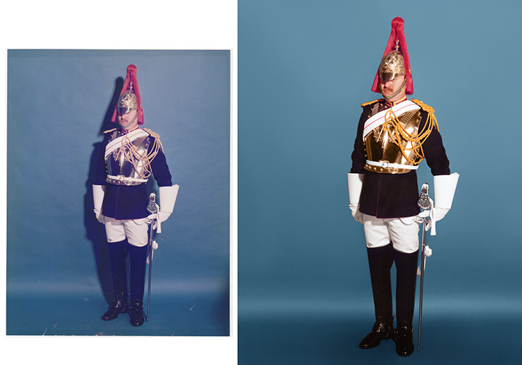 Example of retouching a colour photograph by Photographs Forever